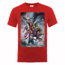 Marvel Avengers Team Montage T-Shirt - Red