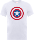 Marvel Avengers Assemble Captain America Simple Shield T-Shirt - White