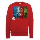 Marvel Avengers Assemble Team Poses Sweatshirt - Red