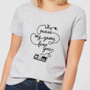 I'd Pause My Game For You Dames T-shirt - Grijs
