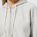 Polo Ralph Lauren Women's Logo Zip Through Hooded Top - Light Sport Heather