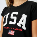 Polo Ralph Lauren Women's USA T-Shirt - Polo Black