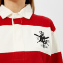 Polo Ralph Lauren Women's Patch Rugby Shirt - Red/DeckWash White