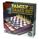 Classic Wood Family 10 Game Set - Black and Gold