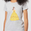 Disney Beauty And The Beast Princess Belle Classic Women's T-Shirt - Grey