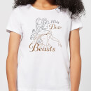 Disney Beauty And The Beast Princess Belle I Only Date Beasts Women's T-Shirt - White