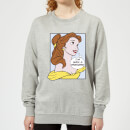 Sweat Femme Princesse Belle Pop Art - La Belle et la Bête (Disney) - Gris