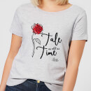 Disney Beauty And The Beast Tale As Old As Time Rose Women's T-Shirt - Grey