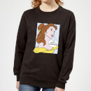 Disney Beauty And The Beast Princess Pop Art Belle Women's Sweatshirt - Black