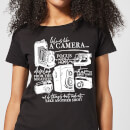 Life Is Like A Camera Women's T-Shirt - Black