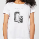 Photography Vintage Scribble Women's T-Shirt - White