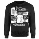 Life Is Like A Camera Sweatshirt - Black