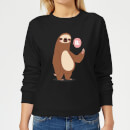 Sloth Hi Women's Sweatshirt - Black