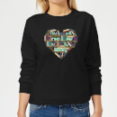 You Will Find Me In The Library Women's Sweatshirt - Black