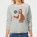 Sloth Good Morning Women's Sweatshirt - Grey