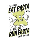 Sweat Femme EAT PASTA RUN FASTA - Blanc