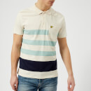 Lyle & Scott Men's Wide Stripe Polo Shirt - Seashell White