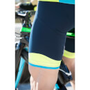 Santini Ace Elite Bib Shorts - Navy/Yellow