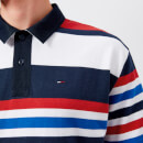Tommy Jeans Men's Stripe Polo Shirt - Black Iris/Multi