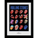 Rolling Stones Tongues Collector's 50 x 70cm Framed Photograph