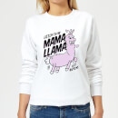MamaLlama Women's Sweatshirt - White