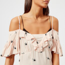 McQ Alexander McQueen Women's Off-the-Shoulder Mini Dress - English Rose