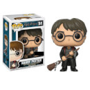 Figura Funko Pop! - Harry Con saeta de Fuego (Firebolt) y Pluma - Harry Potter