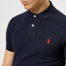 Polo Ralph Lauren Men's Slim Fit Short Sleeve Polo Shirt - Worth Navy Heather
