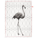 Cotton Tea Towel - Flamingo Stretched Hexagon