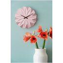 Karlsson Origami Ceramic Wall Clock - Matt Soft Pink