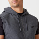 Tru-Fit Sleeveless Hoodie 2.0 - Charcoal Marl - XS