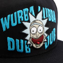 Rick and Morty Men's Embroidery Rick Snapback Cap - Black