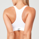 Power Mesh Sports Bra - White - XL - White