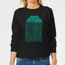 Sweat Femme Super Metroid (Nintendo) Power Suit Blueprint Black - Noir