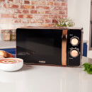 Tower T24021 Digital Microwave 20L - Black/Rose Gold