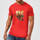 Marvel Deadpool Outta The Way Nerd T-Shirt - Red