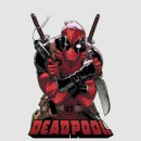 T-Shirt Homme Deadpool (Marvel) Ready For Action - Gris
