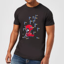 Marvel Deadpool Cartoon Knockout T-Shirt - Black
