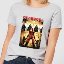T-Shirt Femme Deadpool (Marvel) Cible - Gris