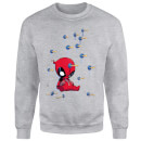 Sweat Homme Deadpool (Marvel) Cartoon Knockout - Gris