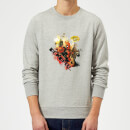 Sweat Homme Deadpool (Marvel) Outta The Way Nerd - Gris