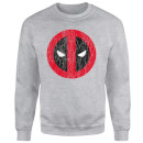 Marvel Deadpool Deadpool Cracked Logo Sweatshirt - Grey