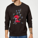 Marvel Deadpool Cartoon Knockout Sweatshirt - Black