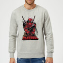 Sweat Homme Deadpool (Marvel) Ready For Action - Gris