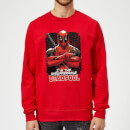 Sweat Homme Deadpool (Marvel) Bras Croisés - Rouge