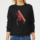 Marvel Deadpool Hang Split Women's Sweatshirt - Black