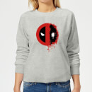 Marvel Deadpool Split Splat Logo Women's Sweatshirt - Grey