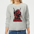 Marvel Deadpool Ready For Action Women's Sweatshirt - Grey