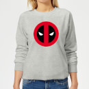 Marvel Deadpool Clean Logo Women's Sweatshirt - Grey