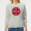 Marvel Deadpool Cracked Logo Women's Sweatshirt - Grey